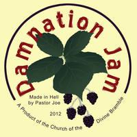 Damnation Jam Jar Labels