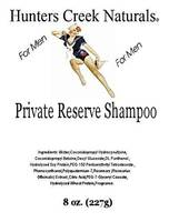 Hunters Creek Naturals for Men Shampoo Labels