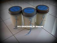 Baby Shower Candle Favor Gift with Personalized Round Labels