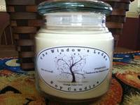 White Glossy Oval 16 oz. Soy Candle Labels - The Window's Ledge