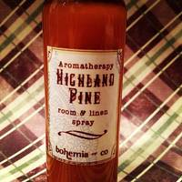 Bohemia's Highland Pine Aromatherapy Spray Bottle Labels