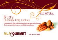 MLA Gourmet Nutty Chocolate Chip label