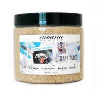 White Gloss Waterproof Labels - Tiare Monoi Sugar Scrub by Moana Beauty