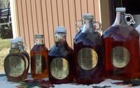 Burke's Maple glass bottle labels