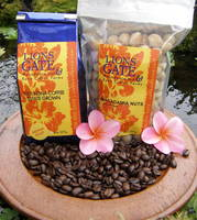 Lions Gate Coffee and Macadamia Nuts Bag Labels