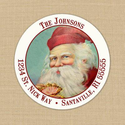 vintage santa address labels customer ideas onlinelabels com