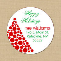 Funky Christmas Tree Address Labels