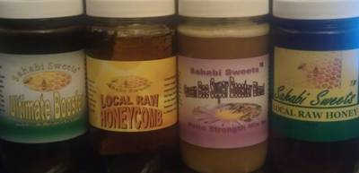 Sahabi Sweets Local Raw Honeys Jar Labels