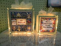 Christmas Blocks - Glass Block labels