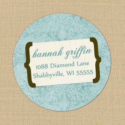 Shabby Damask Labels