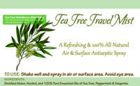 Tea Tree Antiseptic Spray Label