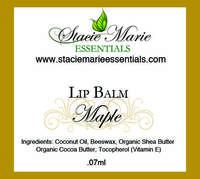 Maple Lip Balm Labels