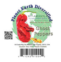 QR Code & UPC Code Labels for Ghost Peppers