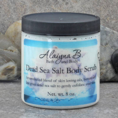 Jar Labels for Dead Sea Salt Body Scrub