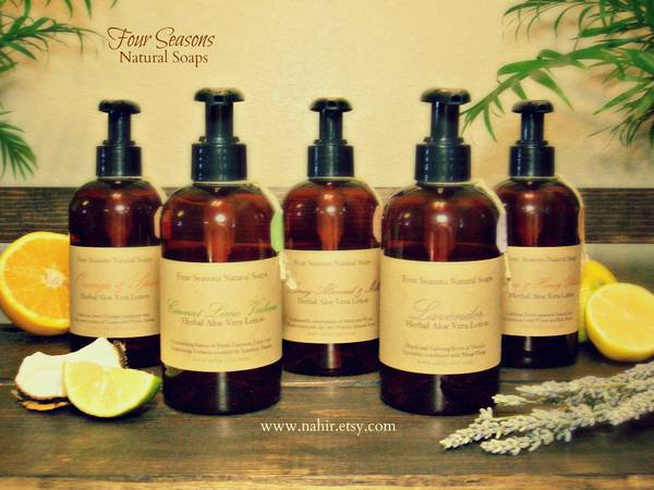 Brown Bottle Labels By Four Seasons Natural Soaps