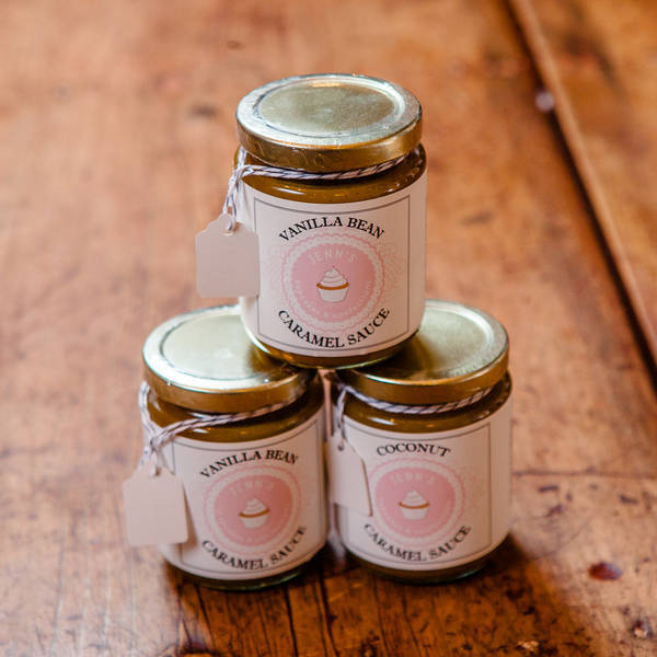 cute glass jar labels for caramel sauce customer ideas