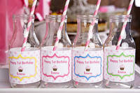 Custom Water Bottle Labels by Sweet Shoppe