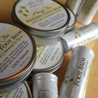 Round Tin Container Labels for Foot Balm