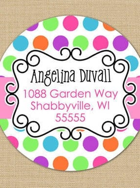 Candy Dots Address Labels