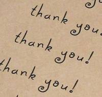Thank You Labels Made with love