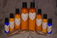Heart Shaped Product Labels by LUVACARE Personal Care Products
