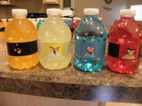 Custom Angry Bird Party Drinks - Make Them Yourself