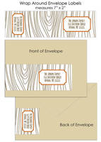 Wrap Around Style Address Labels (Wood Grain)
