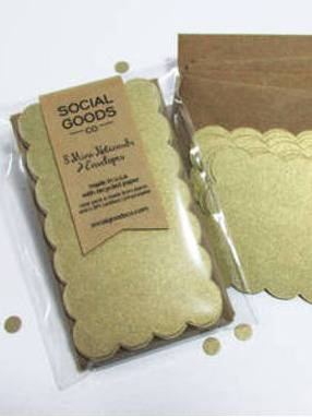 Social Goods Co. Recycled Mini Notecard Set Label