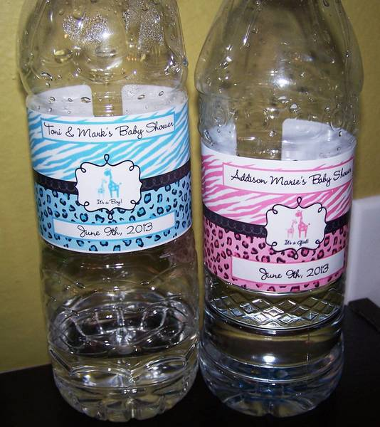 Sweet Safari Design Water Bottle Labels