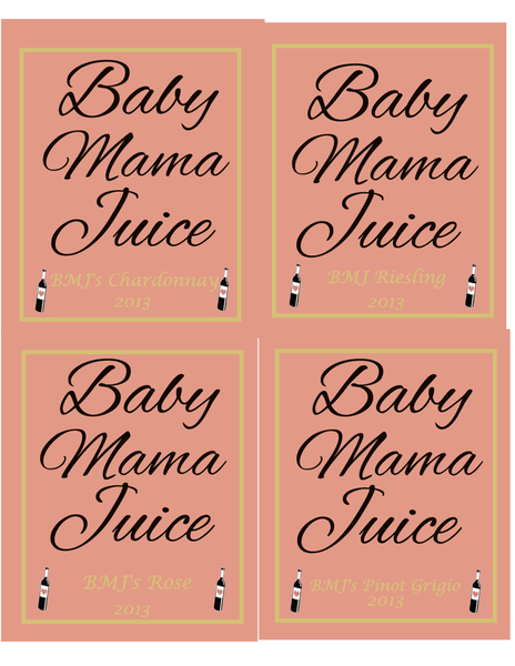 Custom Card Template online lables : Wine Bottle Label: Baby Mama Juice - Customer Creations ...
