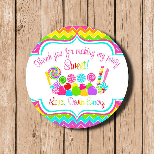 Sweet Shoppe Candy Land Personalized Labels Customer