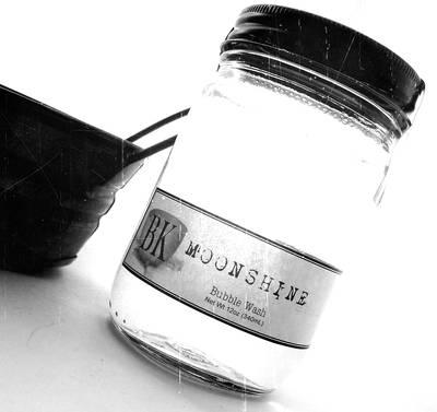Moonshine Bubble Wash Labels