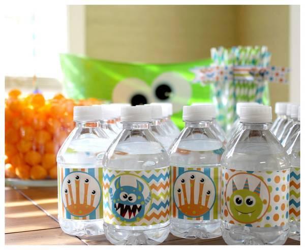 Owen S Little Monster 1st Birthday Water Bottle Labels Customer