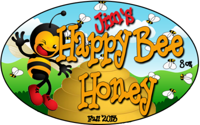 Honey Jar Labels By Happy Bee Honey