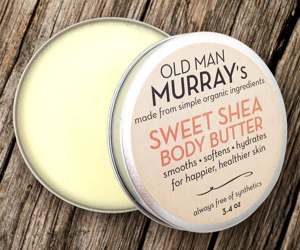 Shea body butter labels by old man murray39s customer for Body butter labels