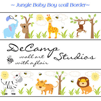 Wall Border Nursery Decal Labels