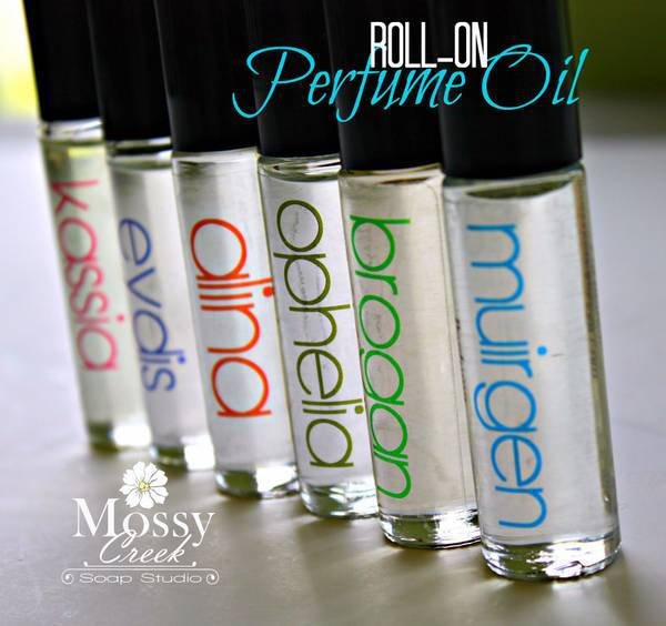 Clear Roll On Perfume Container Labels By Mossy Creek Soap