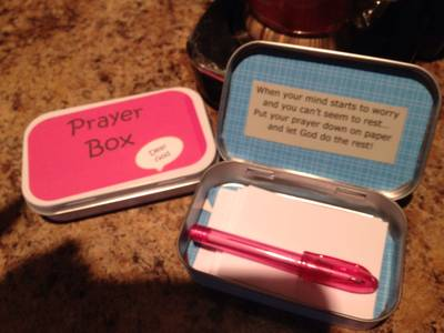 Prayer Box Tin Labels