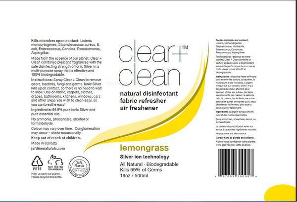 Natural disinfectant Labels by Jardine Naturals - Customer ...