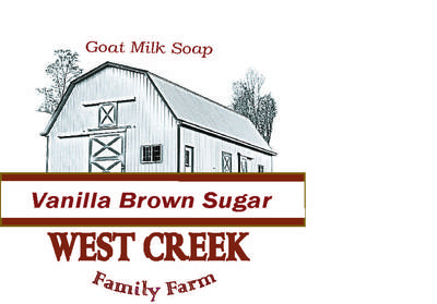 West Creek Family Farm, Goat Milk Soap Label