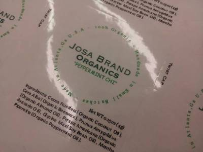 Lip Balm Tube Labels by Josa Brand Organics