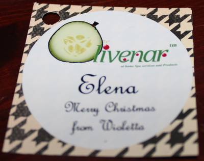 Olivenar Christmas Logo Custom Soap labels