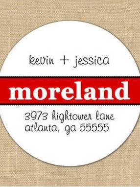 Bold Surname Address Labels