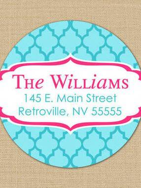 Fresh Quatrefoil Address Labels