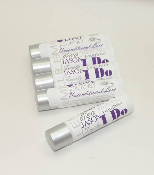 Customized Word Art Wedding Favor Lip Balm Labels