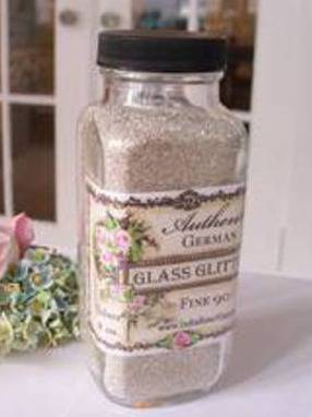Glass glitter bottle labels