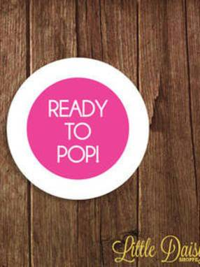 Ready to Pop Baby Shower Sticker