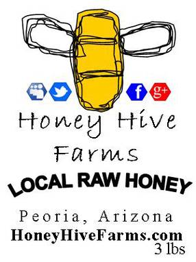 Local Raw Honey Labels by Honey Hive Farms