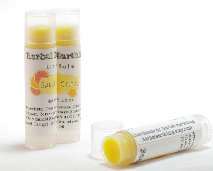 Custom Card Template online lables : Sweet Citrus Lip Balm Label - Customer Creations - Online ...