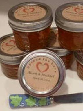 Homemade Pepper Jelly - Wedding favor Labels
